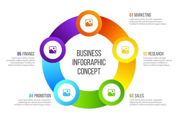 Projekt Infografiki Osi Czasu Koncepcja Biznesowa Z 5 Opcjami, Krokami Lub Procesami. Premium Wektorów