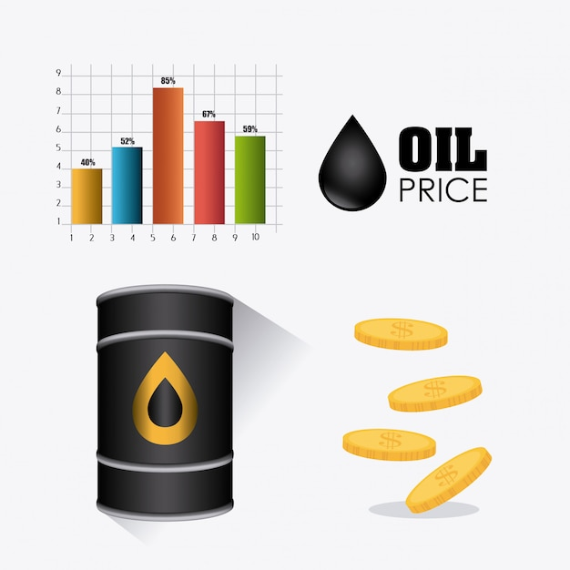 Projekt infografiki ropy naftowej i przemysłu naftowego Darmowych Wektorów
