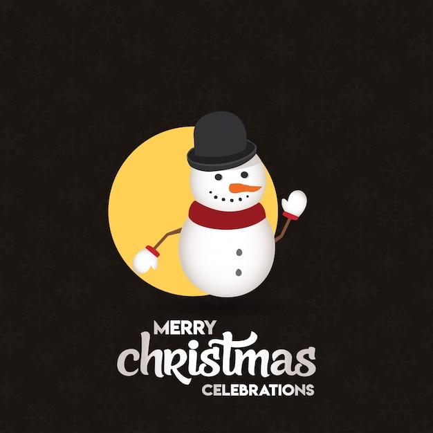 Projekt kartki świątecznej o eleganckim wyglądzie Darmowych Wektorów