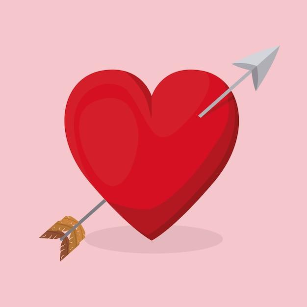 Projekt Karty Miłości Premium Wektorów