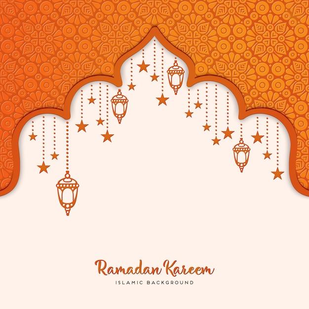 Projekt karty z pozdrowieniami ramadan kareem Darmowych Wektorów