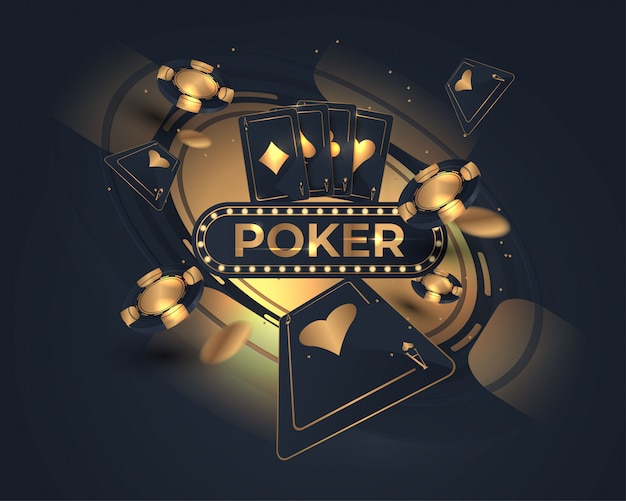 Projekt kasyna pokerowego i koła ruletki Premium Wektorów