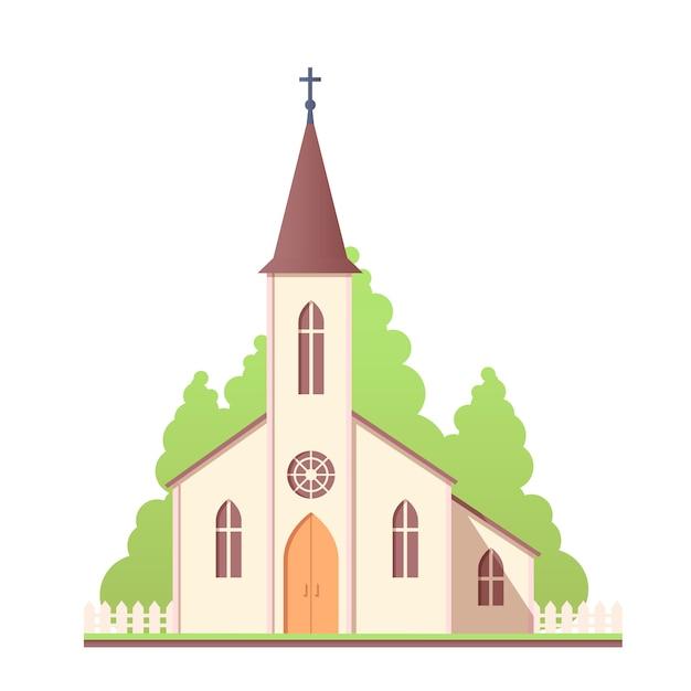 Projekt Katolickiego świętego Kościoła Premium Wektorów