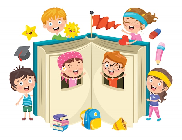 Projekt Koncepcyjny Edukacji Dzieci Premium Wektorów