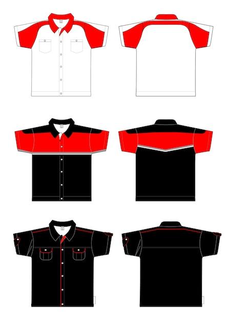 Projekt Koszulki Polo Premium Wektorów
