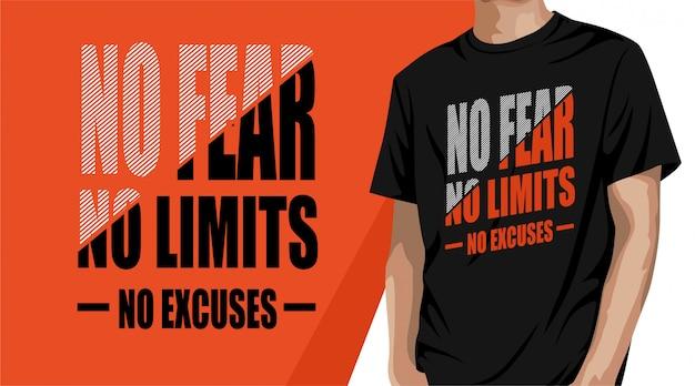 Projekt Koszulki Typografii Bez Ograniczeń Premium Wektorów