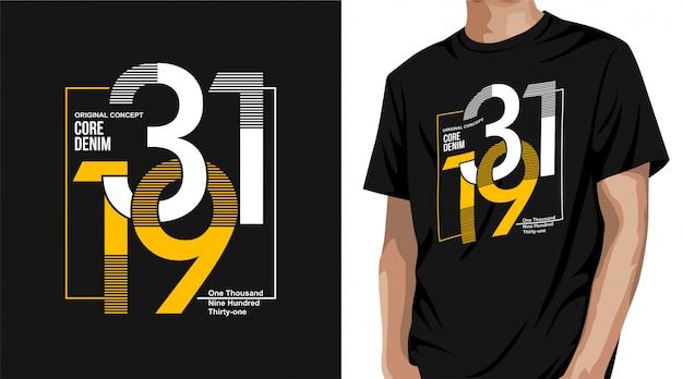 Projekt Koszulki Z Denimu Premium Wektorów
