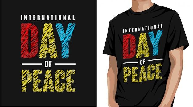 Projekt Koszulki Z Okazji Międzynarodowego Dnia Pokoju Premium Wektorów