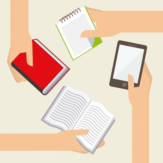 Projekt Książki Elektronicznej Premium Wektorów