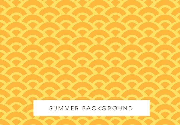 Projekt Lato Bez Szwu żółty Wzór Premium Wektorów