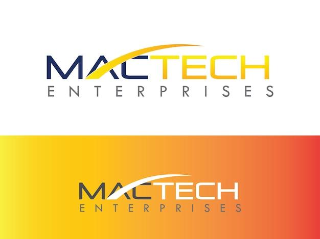 Projekt logo firmy naprawy komputera mac Premium Wektorów