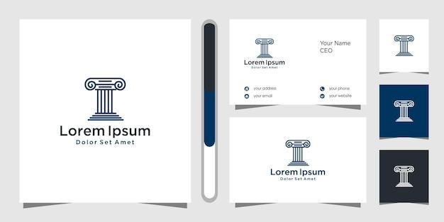 Projekt Logo Firmy Prawniczej I Szablon Wizytówki. Premium Wektorów