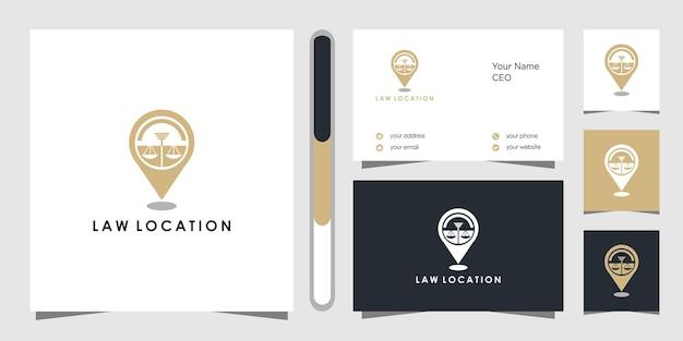 Projekt Logo I Wizytówki Firmy Prawniczej Premium Wektorów