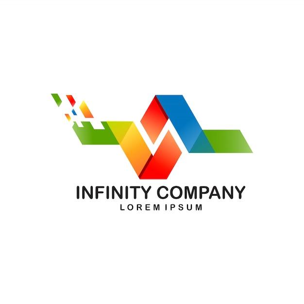 Projekt Logo Infinity Dla Cyfrowych Premium Wektorów