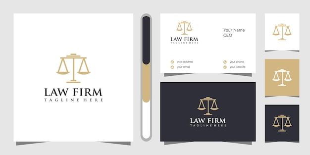 Projekt Logo Kancelarii I Wizytówki Premium Wektorów