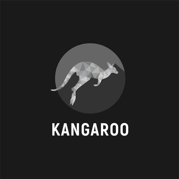 Projekt Logo Kangurów, Które Skaczą Premium Wektorów
