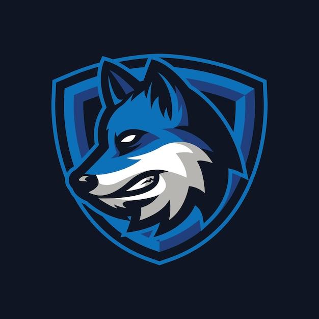 Projekt Logo Maskotki Wilka Dla Sportu Lub E-sportu Premium Wektorów
