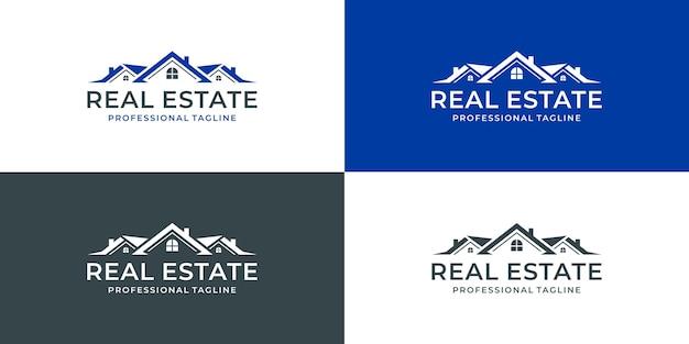 Projekt Logo Nieruchomości Logo Domu Dom Kreatywny Premium Wektorów