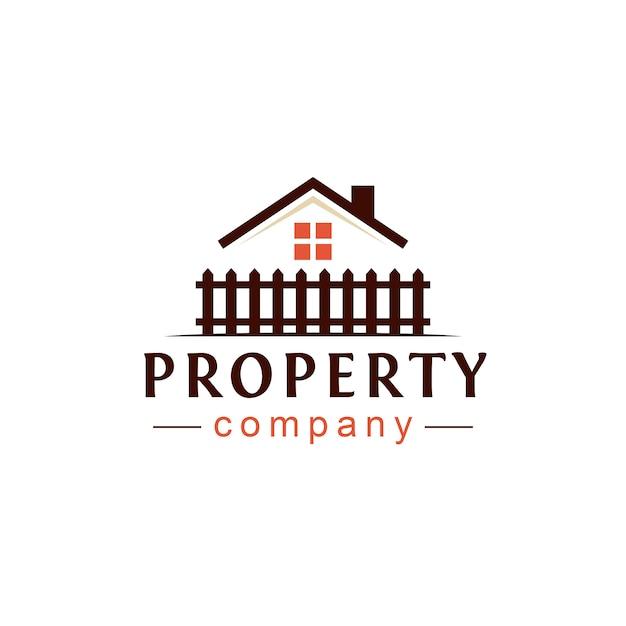 Projekt logo nieruchomości Premium Wektorów