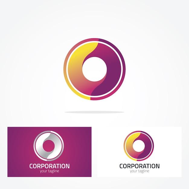 Projekt logo okręgu Darmowych Wektorów