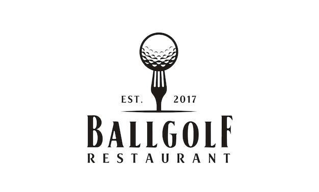 Projekt Logo Restauracji Golf Premium Wektorów