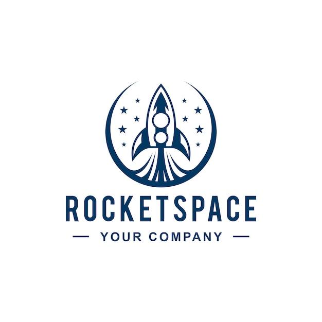 Projekt logo space launch space Premium Wektorów