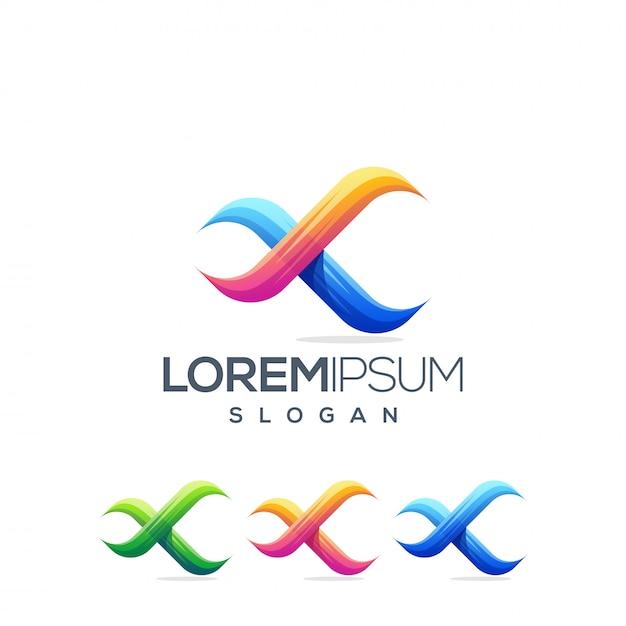 Projekt Logo X Nieskończoności Premium Wektorów