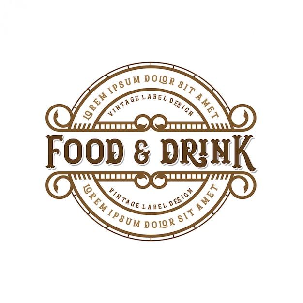 Projekt Logo żywności I Napojów Dla Marki Premium Wektorów