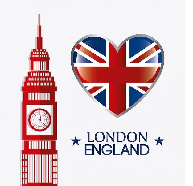 Projekt londyńskiej anglii. Premium Wektorów