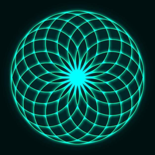 Projekt Mandali. Kwiat życia. święta Geometria. Premium Wektorów