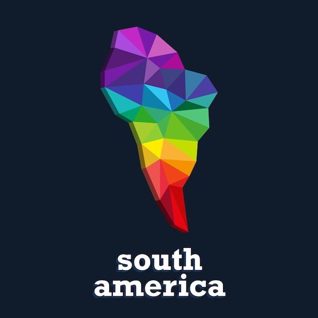 Projekt Mapy Kolorów. Trójkąt Kolorowy Kontynent Premium Wektorów