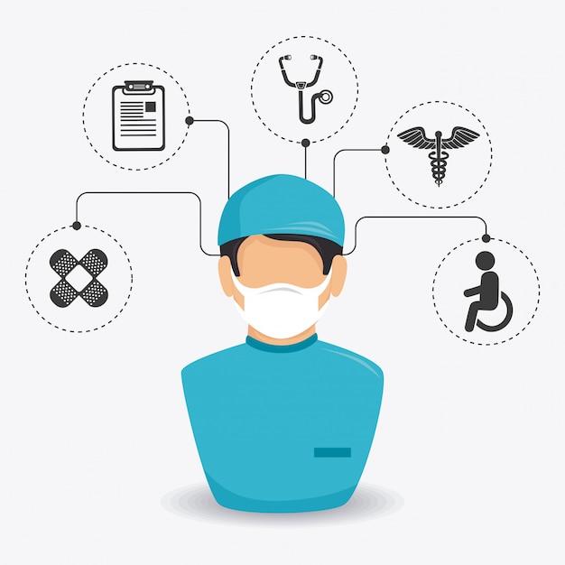 Projekt Medyczny. Premium Wektorów