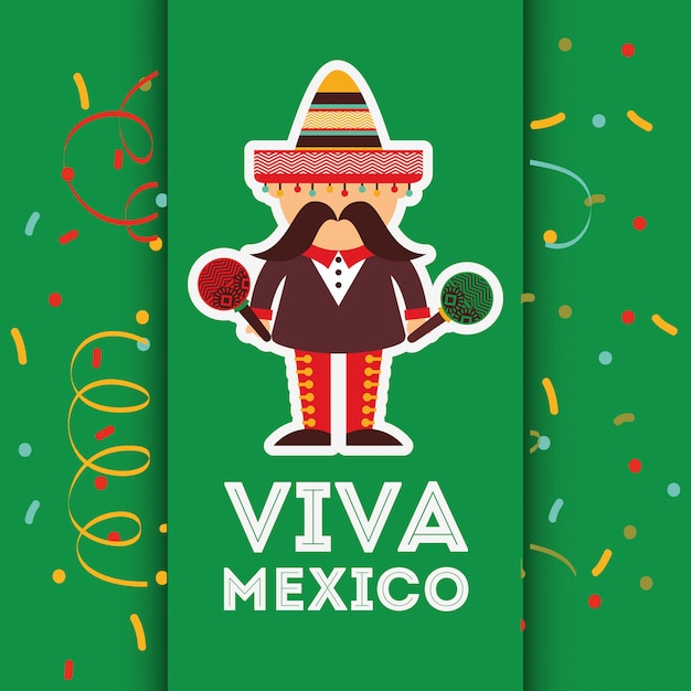 Projekt meksykański viva Premium Wektorów