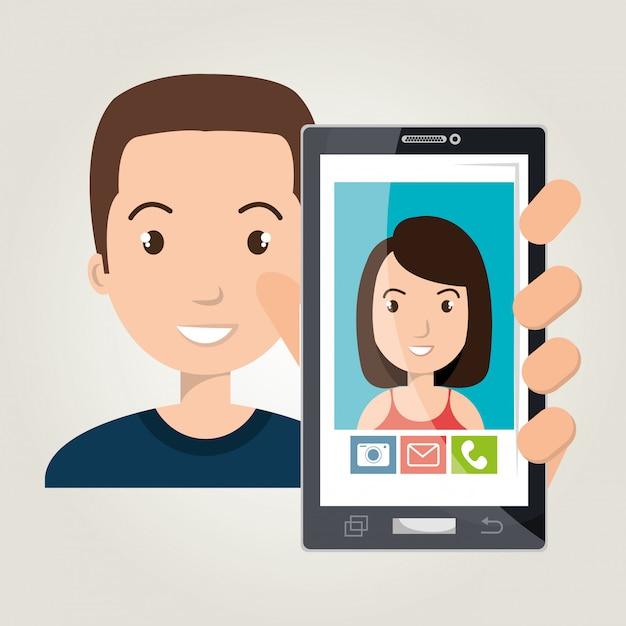 Projekt mobilnego czatu Premium Wektorów