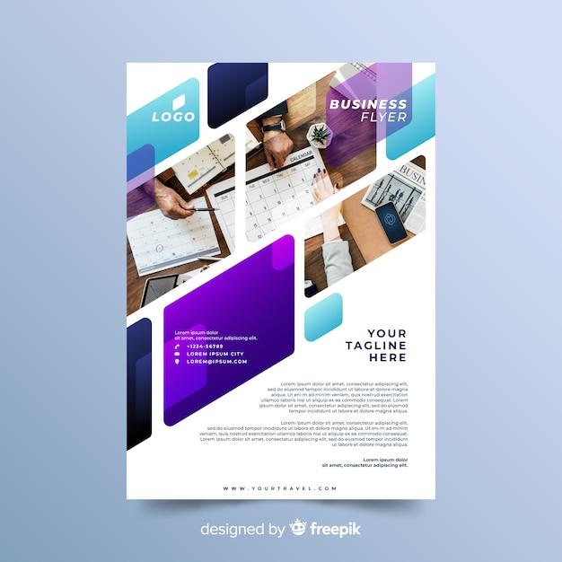 Projekt mozaiki dla szablonu ulotki biznesowe Darmowych Wektorów