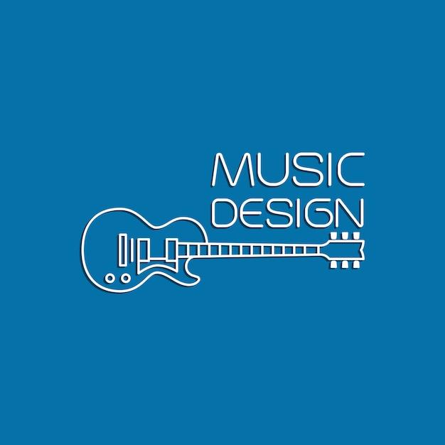 Projekt Muzyczny Z Gitarą Elektryczną Premium Wektorów