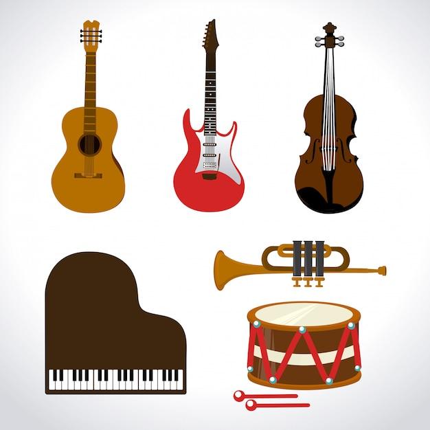 Projekt Muzyczny Premium Wektorów