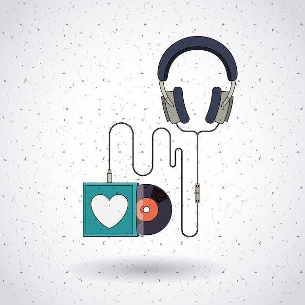 Projekt Nagrań Muzycznych Premium Wektorów
