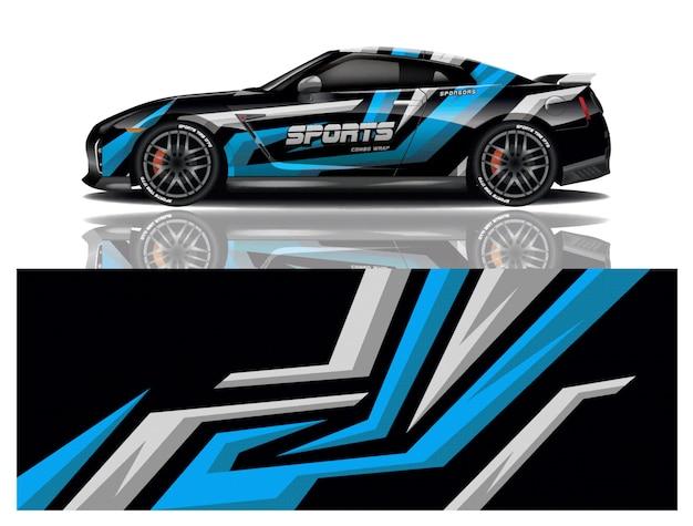 Projekt Naklejek Na Samochód Sportowy Premium Wektorów