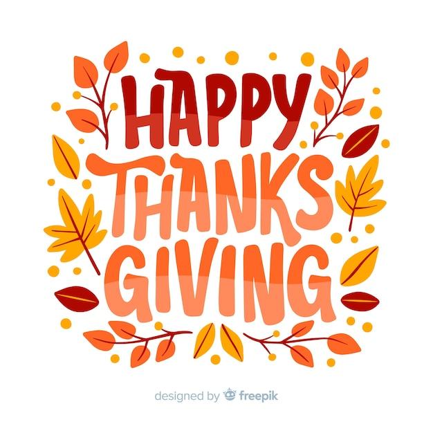 Projekt napis happy thanksgiving Darmowych Wektorów