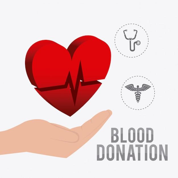 Projekt Oddawania Krwi. Premium Wektorów