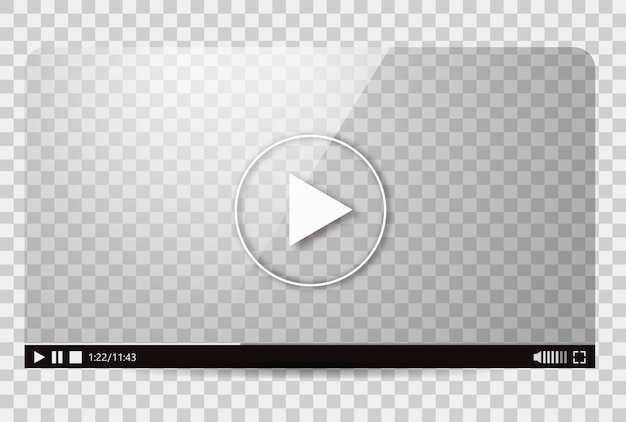 Projekt Odtwarzacza Wideo Darmowych Wektorów