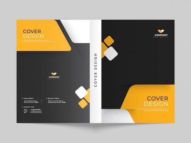 Projekt okładki lub układu szablonu broszury dla biznesu lub korporacji Premium Wektorów