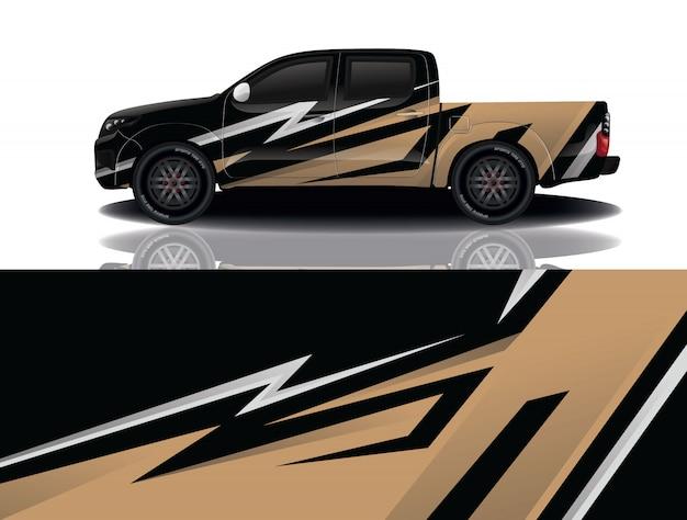 Projekt Okładki Samochodu Ciężarowego Premium Wektorów
