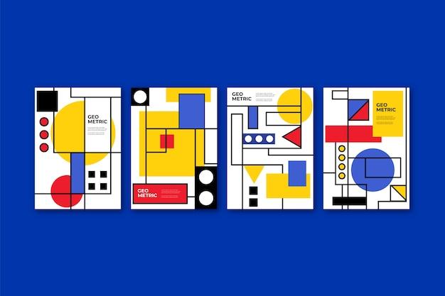 Projekt Okładki W Stylu Bauhaus Darmowych Wektorów