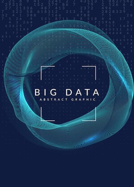 Projekt okładki wizualizacji. technologia dla dużych zbiorów danych Premium Wektorów