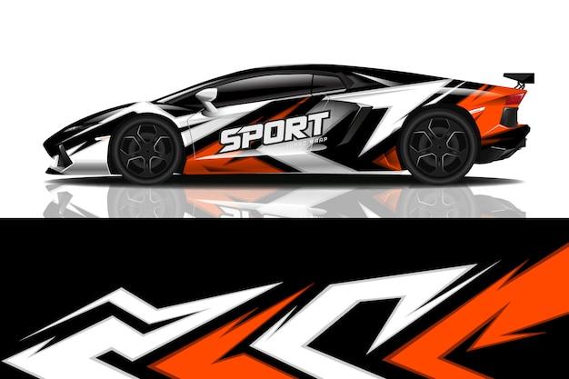 Projekt Okładu Sportowego Samochodu Premium Wektorów