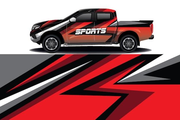 Projekt Opakowania Na Samochód Ciężarowy Premium Wektorów