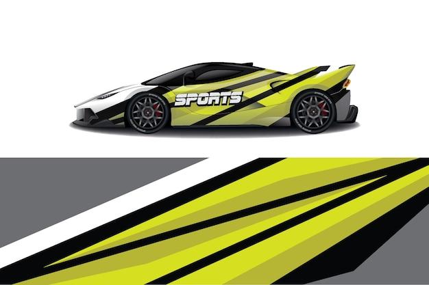 Projekt Opakowania Na Samochód Sportowy Premium Wektorów
