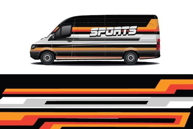 Projekt Opakowania Na Samochód Van Premium Wektorów